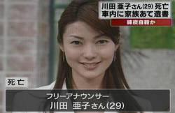 川田アナ自殺という闇深事件