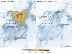 【ええんか】コロナウィルスによる中国の経済活動の低迷によって、大気汚染が劇的に改善している