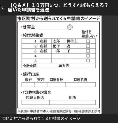 【爆笑】10万円給付の申請書、よく見ずにチェックをつけると給付されないトラップ入りwww