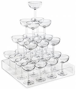 シャンパンタワーってウソじゃない? 数学的に考えれば二項分布で下層ほど中央にシャンパンが集中しちゃう気がする